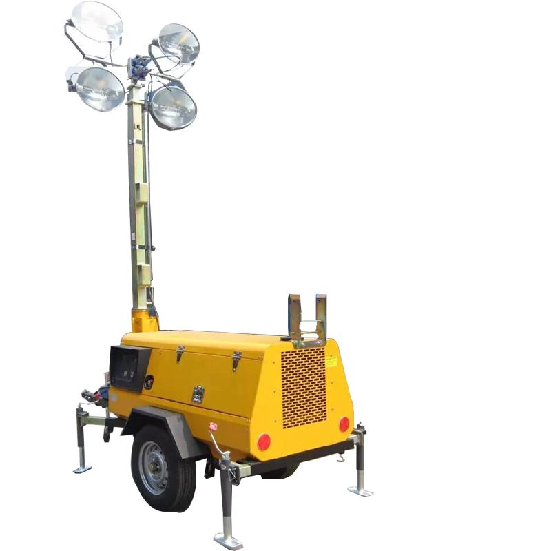 Portable Telescopic Light Tower: 4*400w Emergency Lighting 3m Telescopic Rod Portable