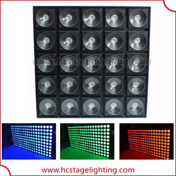 stage lighting fixtures audience light blinder 5x5 warm white or rgb led matrix panel