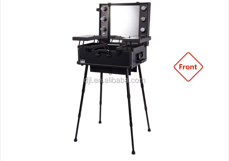 Sunrise Professional Aluminum Make Up Artist Portable Makeup Station With  Lights