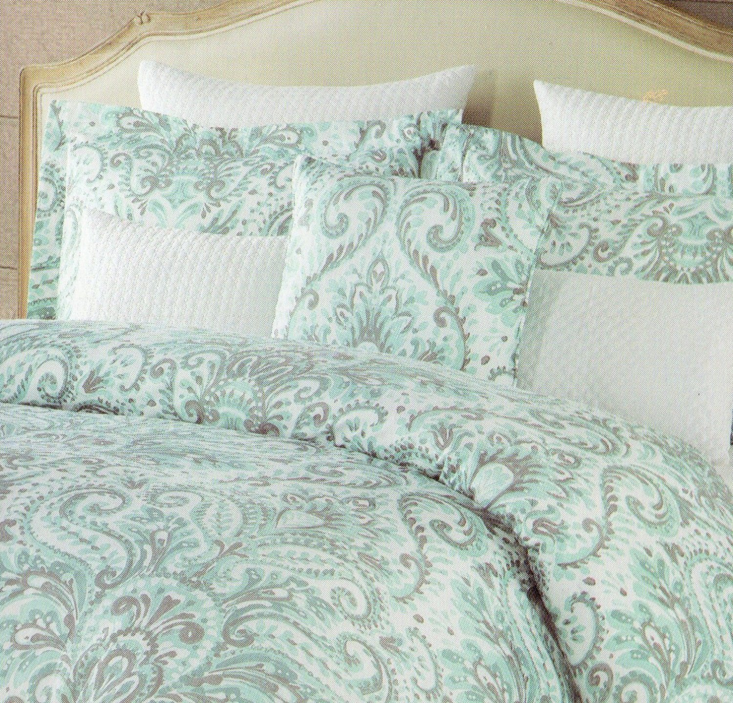 Buy Tahari King Duvet Cover Set Large Floral Paisley Damask Medallion Teal Blue Grey Turquoise Aqua Silver Gray In Cheap Price On Alibaba Com
