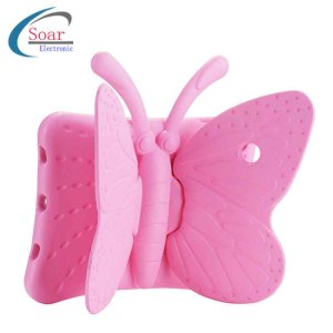Tablet PC Back Cover Shockproof Durable Silicone Butterfly Shaped Kickstand Case For iPad 9.7 2018 Cute Satefty Cover For Kids