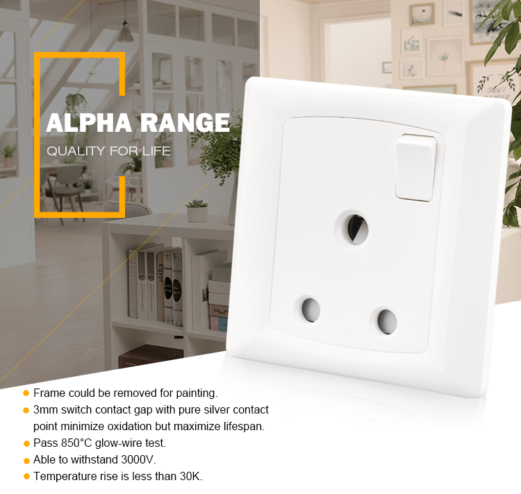 BS546 Philippine electrical power outlets wall switch socket