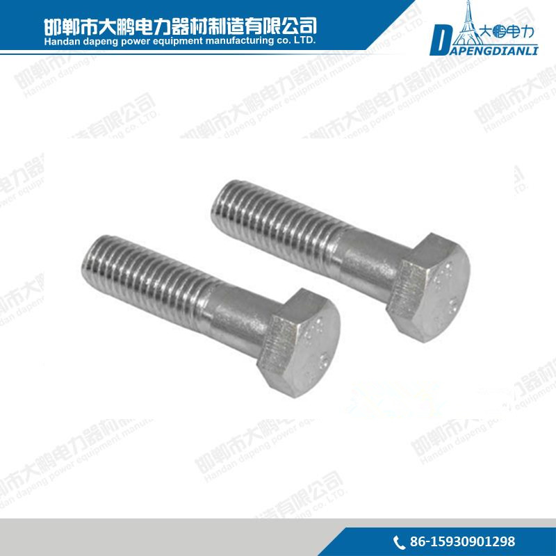 DIN933 Hot Dip Galvanized Hex Bolt grade 4.8-12.9 For Power Bolts and DIN 931 Nuts