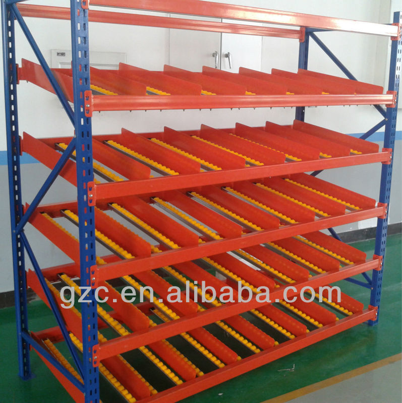 Trays Carton live storage rack roller racking system