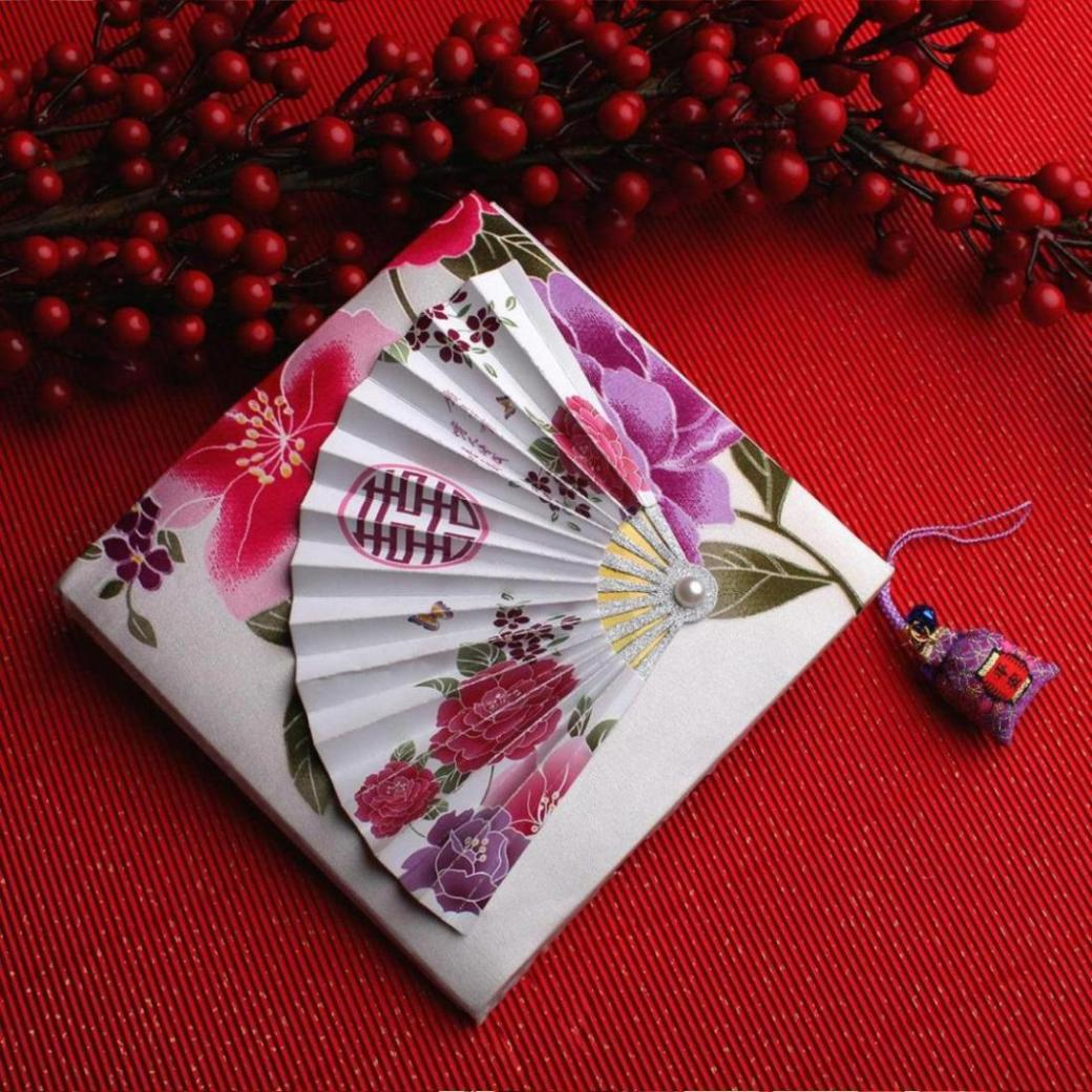 Wedding Invitations From China: Landen Chinese Fan Invitations/ Custom Wedding Invitations