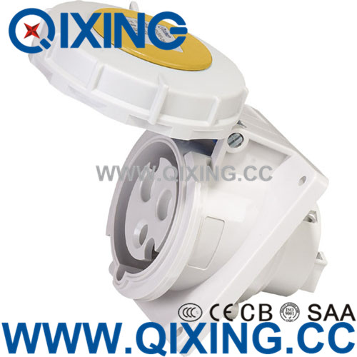 Commando 32A 3P 4H 110V Yellow IP67 Industrial Electrical Angle Sockets