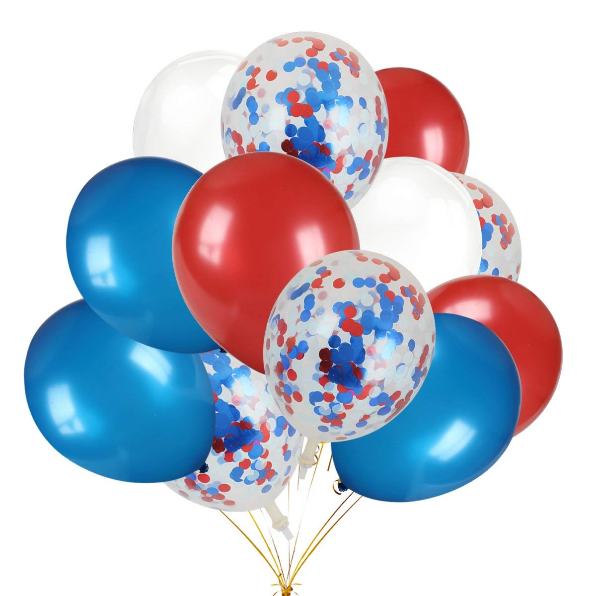 Get Quotations Patriotic Decorations Latex Balloons 30pcs Red Blue White Color And 12pcs