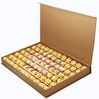 for Candy Gold Paper Packing Box Classic Gold Chocolate Gift Package Candy Paper Packaging Clamshell Box