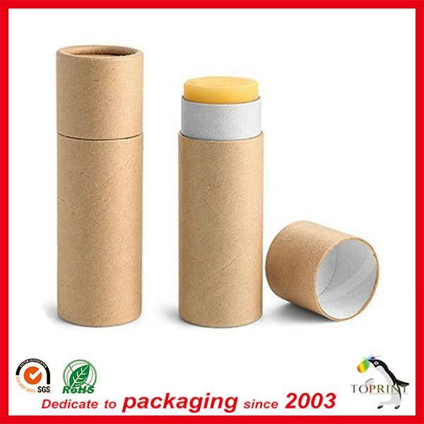 Newest custom paper tube cosmetic mini lip balm tube recycle lipbalm container eco lip balm tube