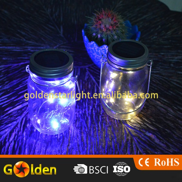 5 10 LED Warm White Solar Powered Mason Jar Lid Light Table Deck Lamp LED Firefly Fairy Lights for Wedding Christmas Holiday Pa