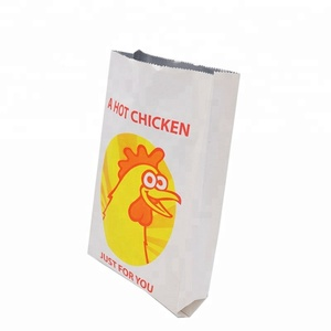 Eco-friendly Reusable bags Hot Chicken Bread Food Pack Printed Aluminum Foil Lined square bottom paper bag