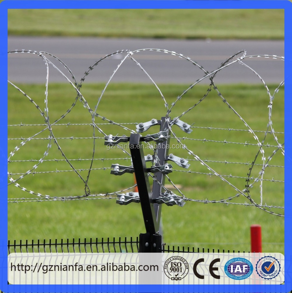 Barb Wire Fence for Airport Border/Galvanized Double Strand Babred Wire(Guangzhou Factory)