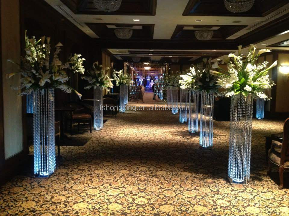Wholesale Lighted Aisle Stands Weddingspillars Stands Flowers