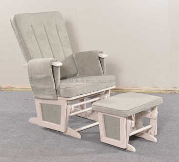 Childwood Childhome Baby Recliner Glider Rocking Chair With Foot Stool