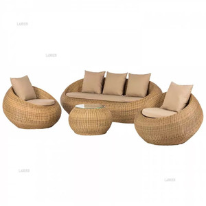 New Design Modern space saving round outdoor children furniture kids mushroom compact Rattan table and chair
