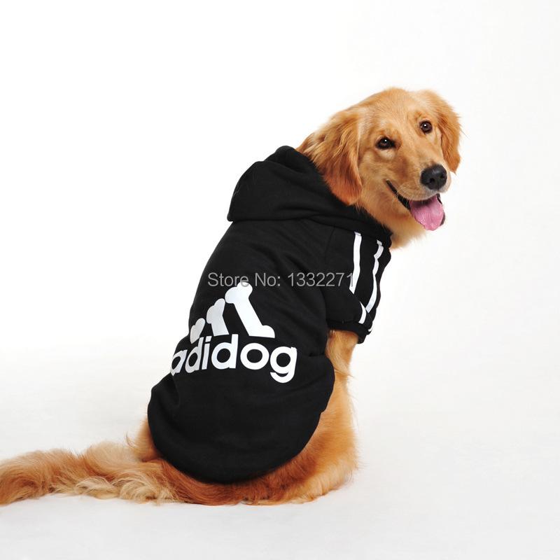 כלב מחמד בגדים כלבים גדולים חורף כותנה מרופד בגדי גולדן רטריבר לברדור כלב גדול, בגדים לחיות מחמד,בגדים גדול adidog