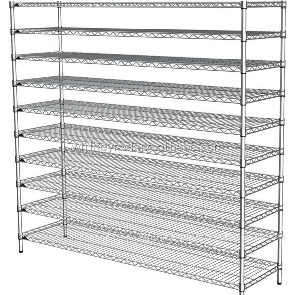 CE Certificate Wire Shelving For Kitchen,chrome Plated Wire Shelving,mobile  Shelves For Storage