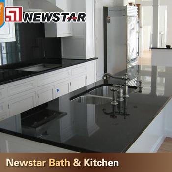 China Polished Black Galaxy Granite Kitchen Top Price Buy Kitchen