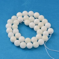 10mm Natural Giant Clam Grade AB, White Shell Round Bead for Jewelry Making Strands