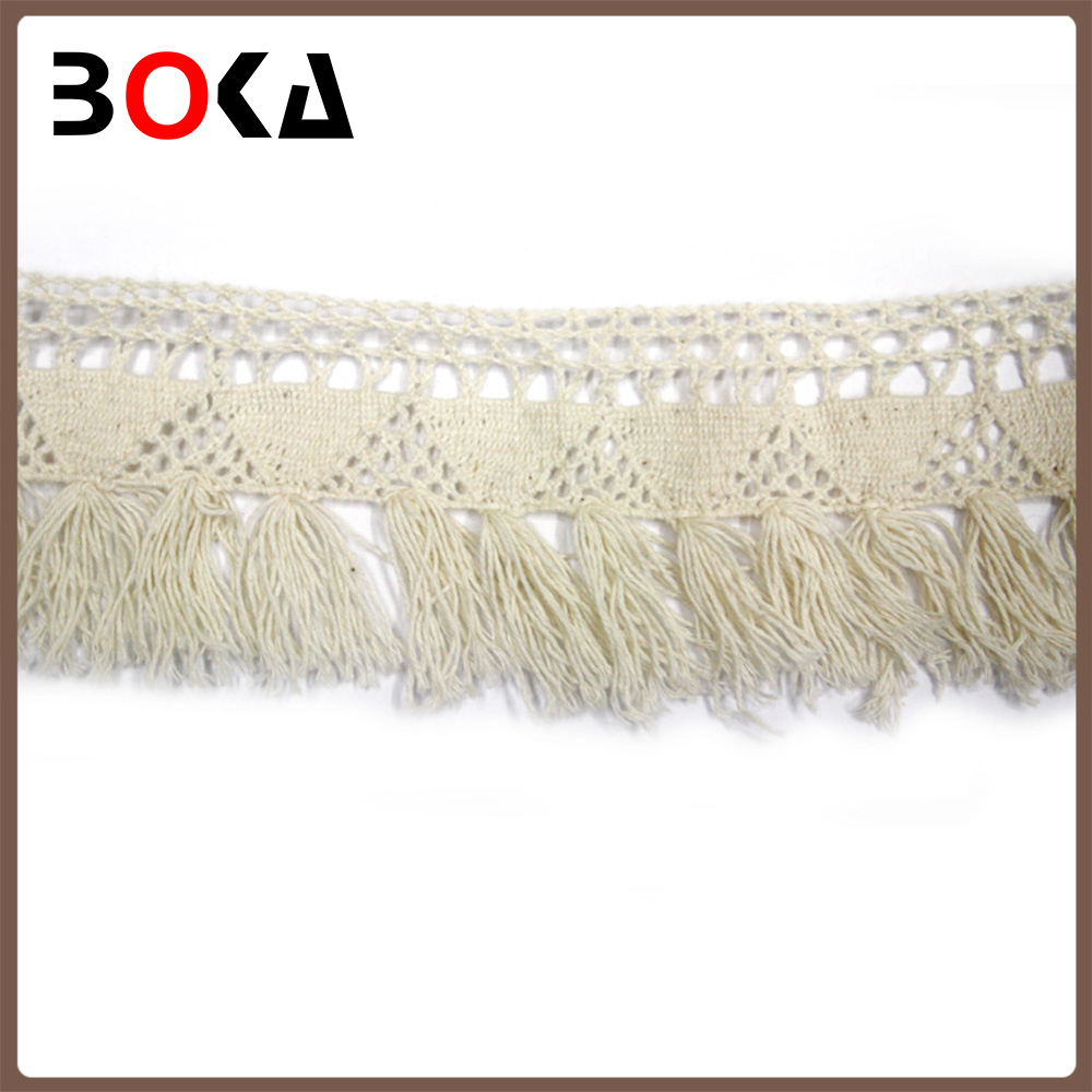Fashion 15cm Width Cotton Tassel Lace Trim For Dress Fashion ...
