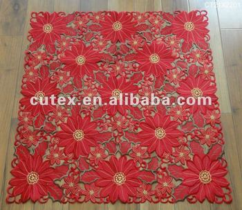 Christmas Table Cloths With Embroidery And Cutwork Buy Embroidered