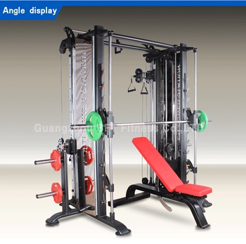 commercial gym equipment cable crossover multi function smith machine gym