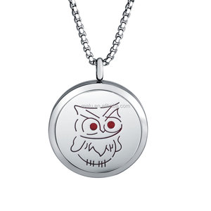 Owl Essential Oil Aromatherapy Necklace Diffuser Pendant