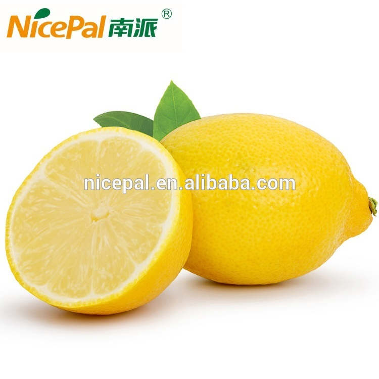 Instant yellow lemon juice powder extract from organic fruit