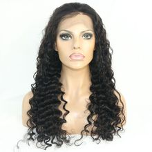 Re-plucked Illusion Hairline Deep Wave Human Hair Lace Front Wig