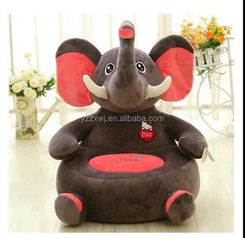 Plush Animal Elephant Sofa Chair For Kidsplush Animal Elephant - Animal-chairs-for-children