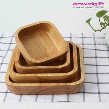Custom Big Salad Square Wooden Bowl Novelty Japanese Fruit Plate Bowls & Custom Big Salad Square Wooden Bowl Novelty Japanese Fruit Plate ...
