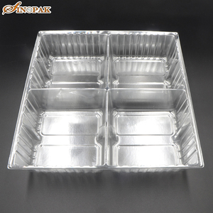 Food Grade Biscuit and Moon cake Silver Plastic Blister Tray