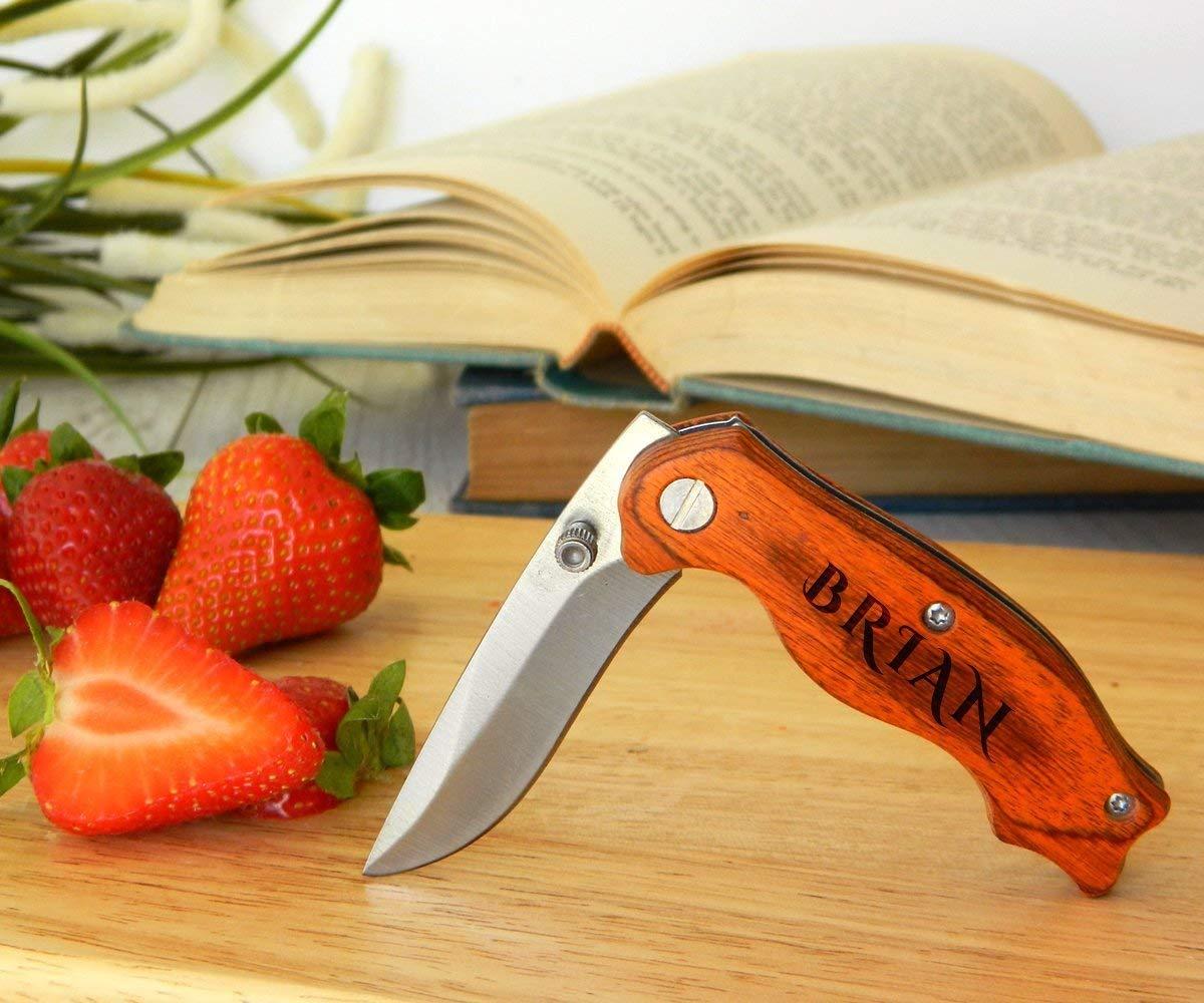 Wooden Pocket Knife, Groomsmen Gift, Groomsman Gift, Groomsmen Knife, Cool Groomsmen Gift, Gift for Him, Groomsmen Gift Knife, Custom Knives, Personalized Knife, Engraved knife, Custom Knife