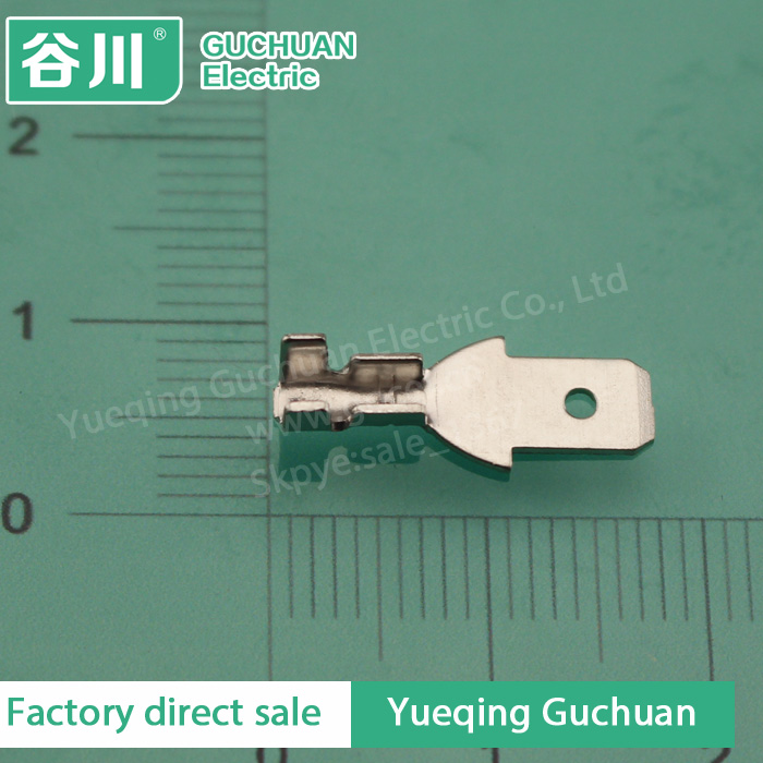 187 / 4.8 terminal lug,male spade crimp connector,electrical wire automotive connector DJ617-4.8*0.5A