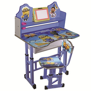 The Minions Morden kids study table and chair hot sale child furniture