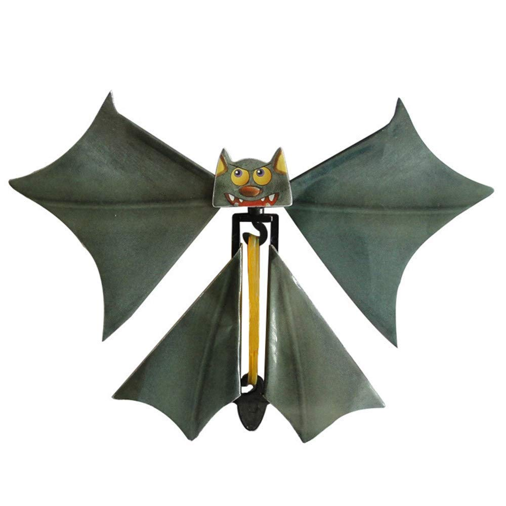 Livoty Halloween Magic Props Flying Bat Flutter Card Prank Flying Paper Bats Funny Halloween Card Toys Gift