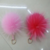 Vintage raccoon fur pom for hat asia fur pom poms hairy ball keychain