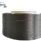 Dope Dyed Super Black DTY Twist Yarn for Webbing, Ribbon, Rashell or Lace Fabric Use