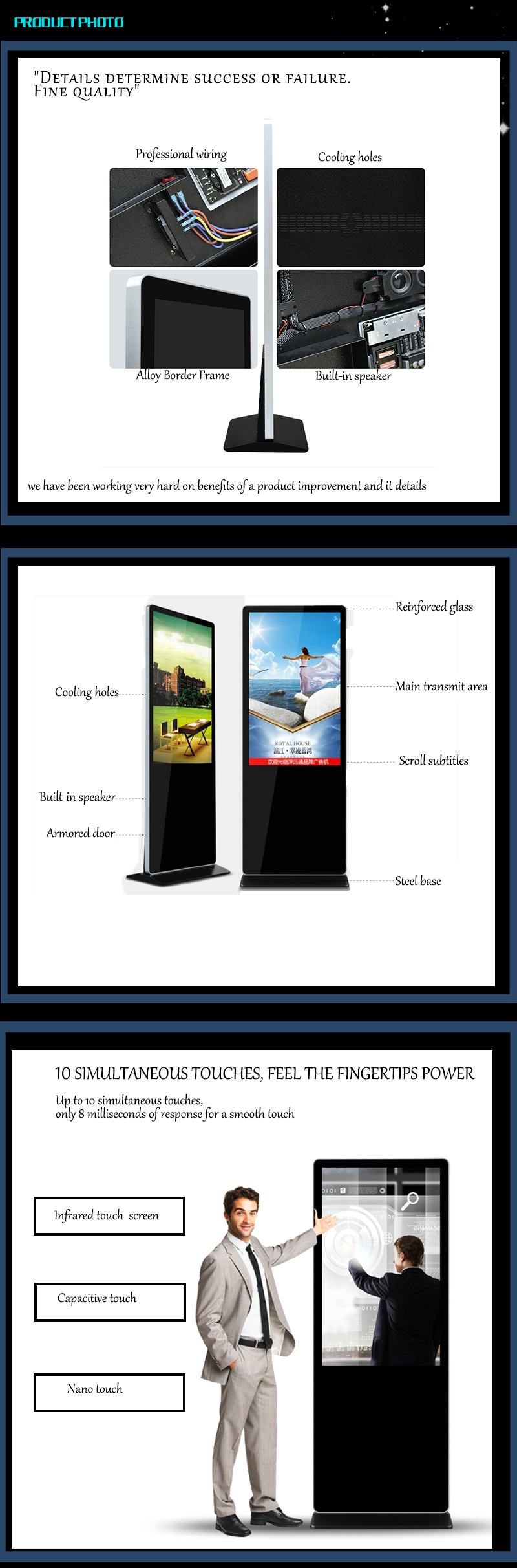 Hotstar indoor reliable p5 digital led tv display stand billboard fixed installing screens for advertising