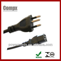 10/12/16A 250V brazil power supply inmetro power cord