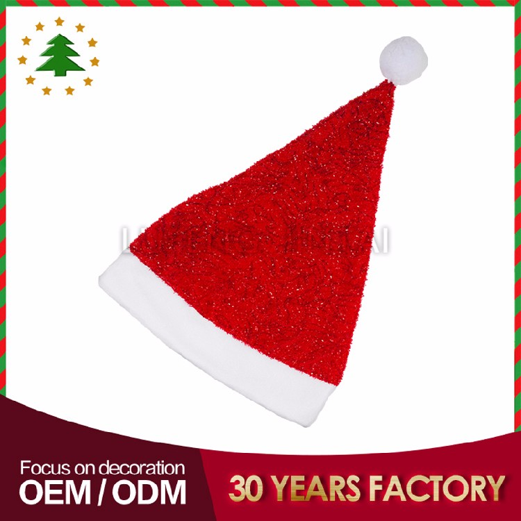 Big promotion wholesale xmas decoration lastest design santa christmas hat