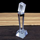 3D Laser Engraving Personalized Crystal Microphone Trophy