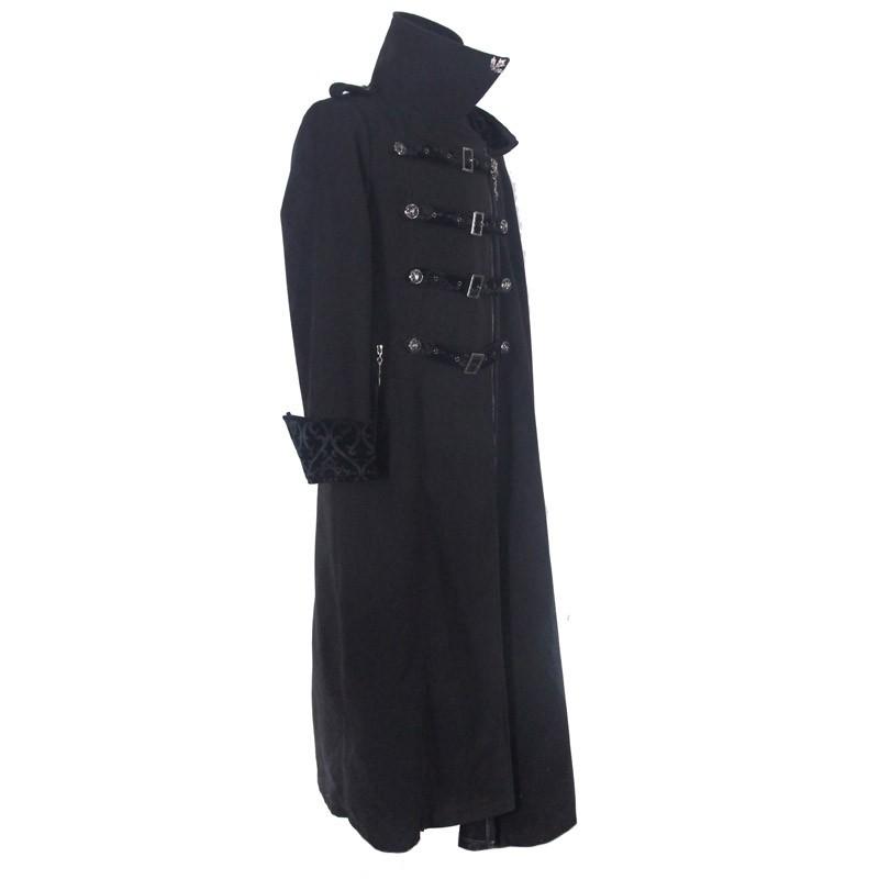 European Style Winter Gothic Coat Men Extra Long Coat With Belts ...