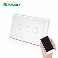 US Smart Home Hotel Wifi Touch Dimming Switch Housing, wall Electric Light Sensor Switch