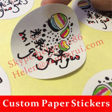 Custom Common Coated Paper Sticker with Glossy Lamination Printing