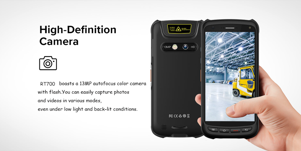 "High speed 5"" touch screen android 6.0 rugged IP67 PDA handheld barcode scanner with 2G RAM memory"