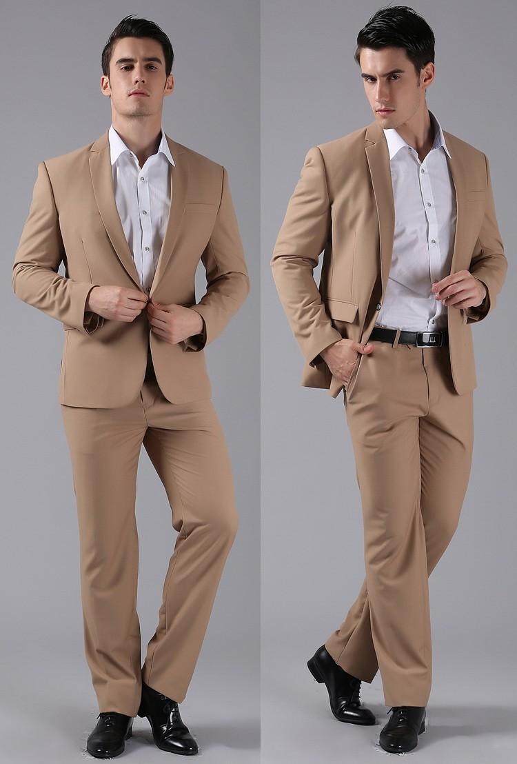 (Kurtki + Spodnie) 2016 Nowych Mężczyzna Garnitury Slim Fit Niestandardowe Garnitury Smokingi Marka Moda Bridegroon Biznes Suknia Ślubna Blazer H0285 78