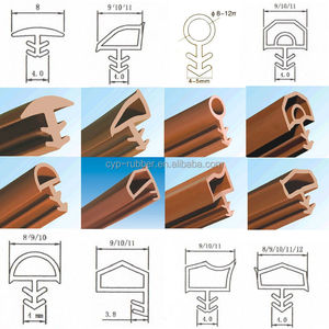 Factory Price Soft PVC Profiles Rubber Seals /Silicone seal profile/Sliding door seal