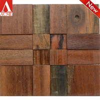 china manufacture Natural Old Ship Wood Wall Mosaic Tile For Living Room