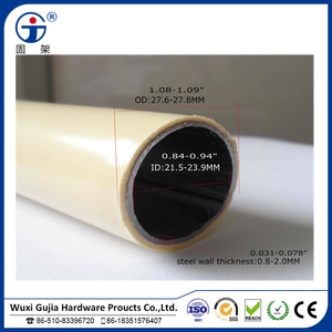 China factory direct sale plastic coated steel pipe for logiform system